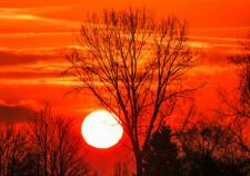 Sonnenaufgang in der Nähe des Weserstadions