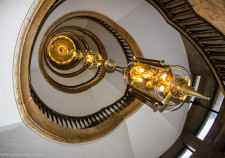 die Lampe im Treppenturm vom Haus des Reichs