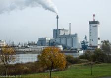 das Kraftwerk der SWB in Bremen Hemelingen