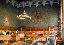 der grosse Schwurgerichtssaal im Bremer Landgericht