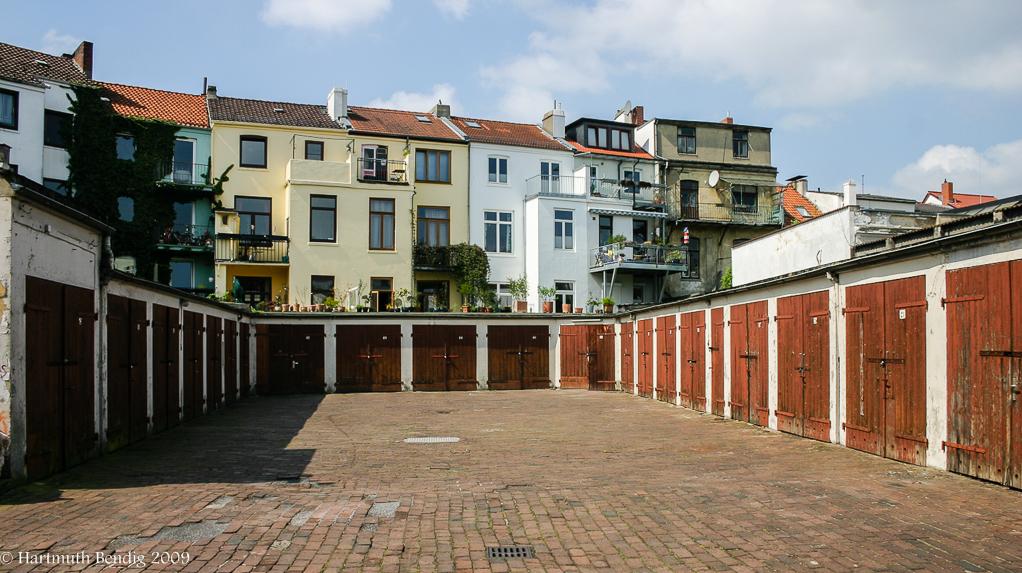 alter Garagenhof im Bremer Ostertor