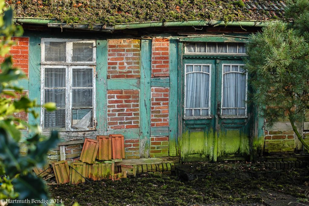 Detail eines alten Bauernhauses in Fischerhude