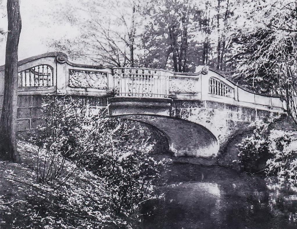 Postkarte der Wiegandbrücke 1910,