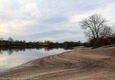 Bremer Weserstrand bei extremen Niedrigwasser