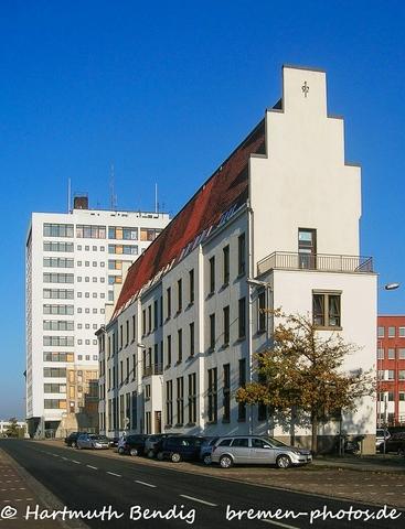 ehemaliges Verwaltungsgebäude im Bremer Freihafen
