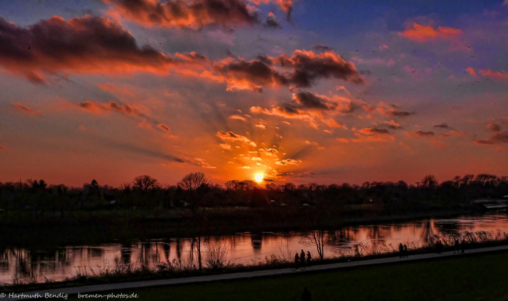 Sonnenuntergang am Bremer Osterdeich