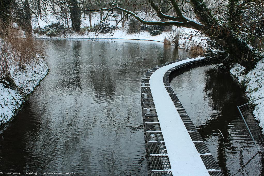 Winter in den Bremer Wallanlagen