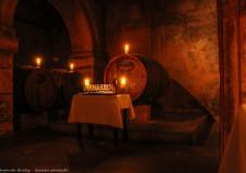 das Rosenfaß mit dem ältesten Wein des Bremer Ratskellers