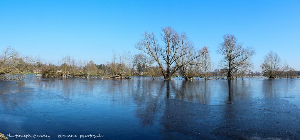Hochwasser in den Wümmewiesen