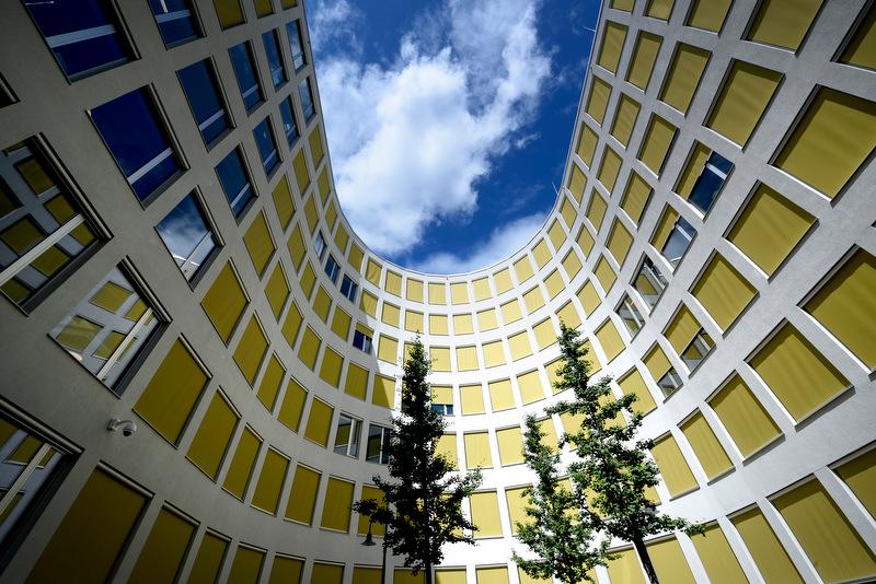 Bremen Landesbank Bremen Neubau des Verwaltungsgebäudes Domshof KW 32/2016 09.08.2016 Blick in den Innenhof