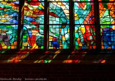 Detail des Pfingstfensters der Kirche Unser Lieben Frauen Bremen