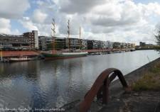 Segelschiff Alexander-von-Humboldt im Bremer Europahafen