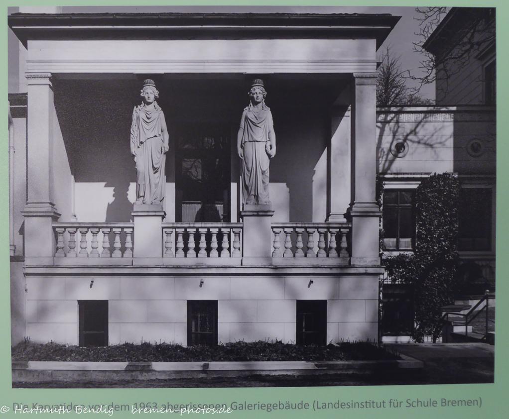 Karyathiden an der Villa Lürman in Bremen