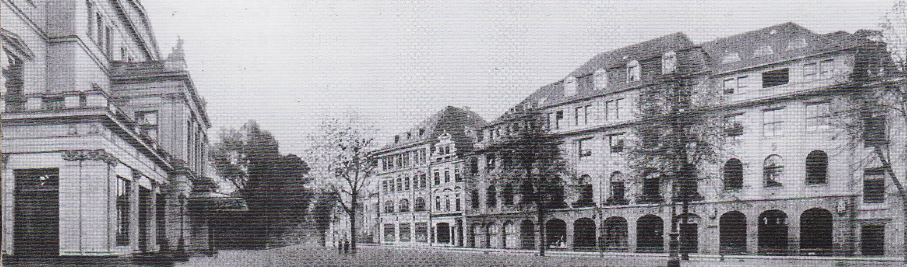 Bremen am Wall 175-177, links das alte Bremer Theater