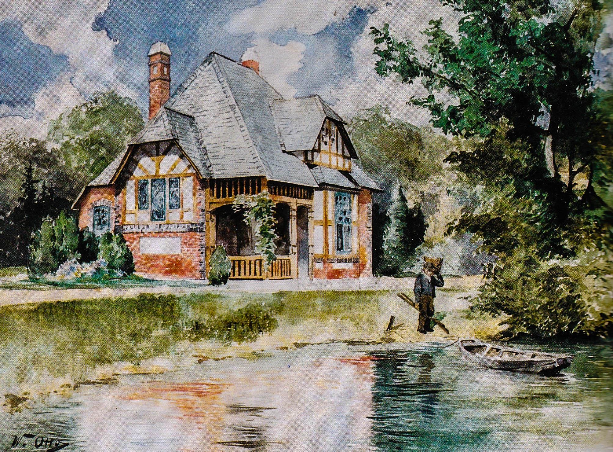 Wätjenhaus, Aquarell von Wilhelm Otto 1894