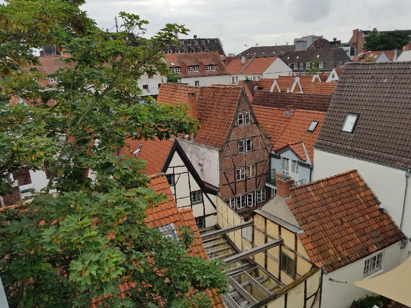 Blick von oben ins Bremer Schnoorviertel